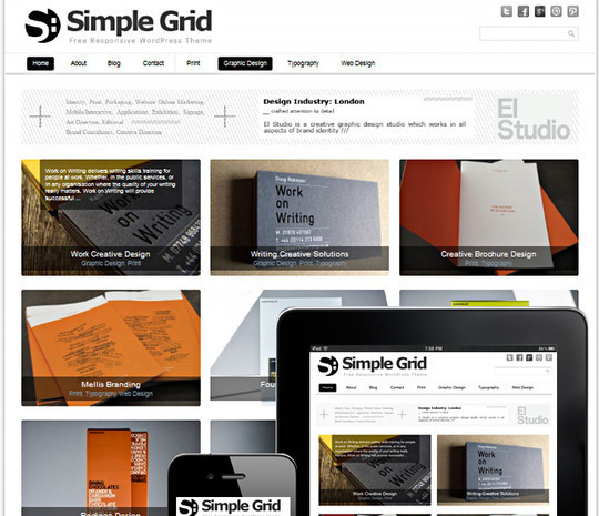 Collection of Free And Premium WordPress Themes With Grid Layouts 15