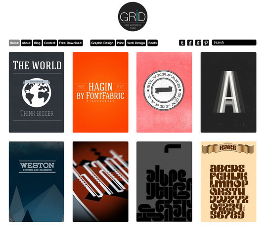 Collection of Free And Premium WordPress Themes With Grid Layouts 7