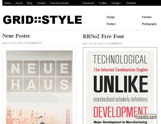 Collection of Free And Premium WordPress Themes With Grid Layouts 8