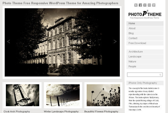Collection of Free And Premium WordPress Themes With Grid Layouts 9