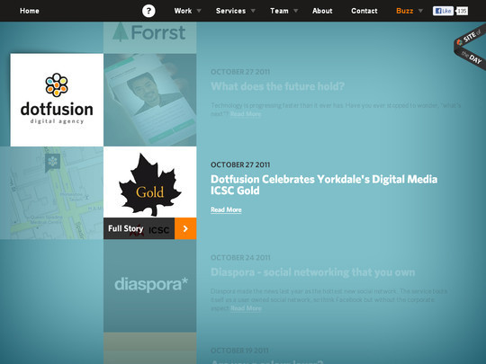 40 Inspirational Websites Powered By HTML5 21