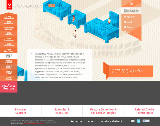 40 Inspirational Websites Powered By HTML5 30