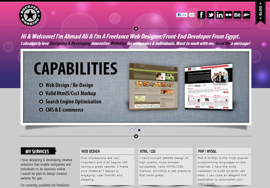 40 Inspirational Websites Powered By HTML5 31