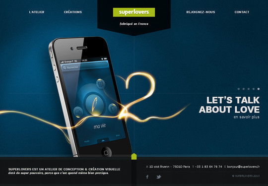 40 Inspirational Websites Powered By HTML5 10