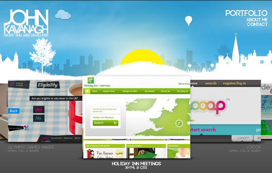 40 Inspirational Websites Powered By HTML5 12