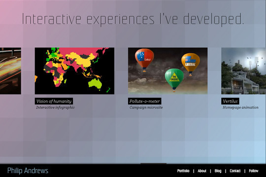 40 Inspirational Websites Powered By HTML5 42
