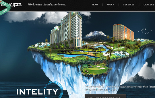 40 Inspirational Websites Powered By HTML5 16