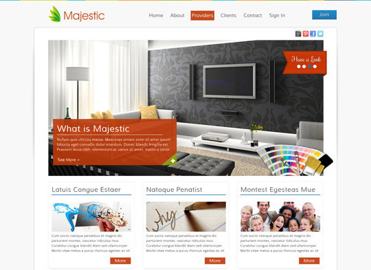 17 Free PSDs Of Website Themes 7