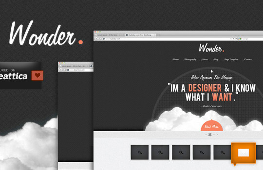 17 Free PSDs Of Website Themes 12