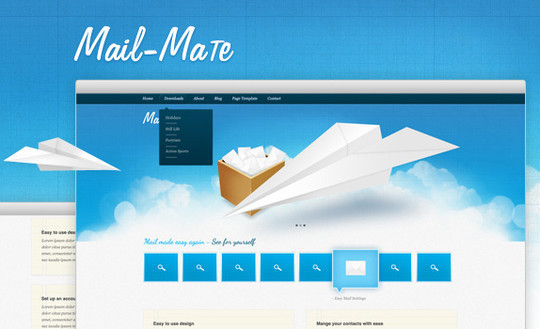 17 Free PSDs Of Website Themes 14