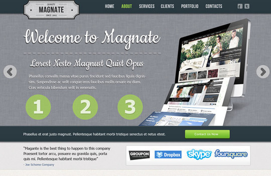 17 Free PSDs Of Website Themes 4