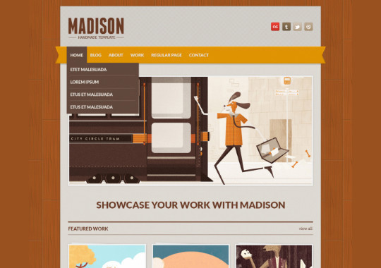 17 Free PSDs Of Website Themes 1