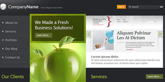17 Free PSDs Of Website Themes 8