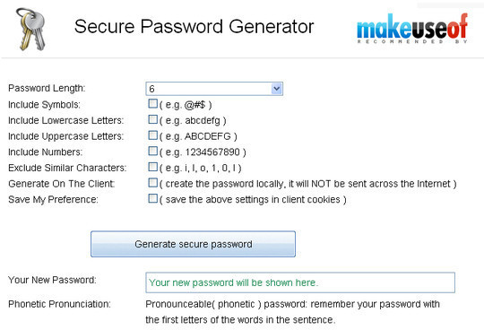 20 Useful Online Tools To Generate Random Passwords 7