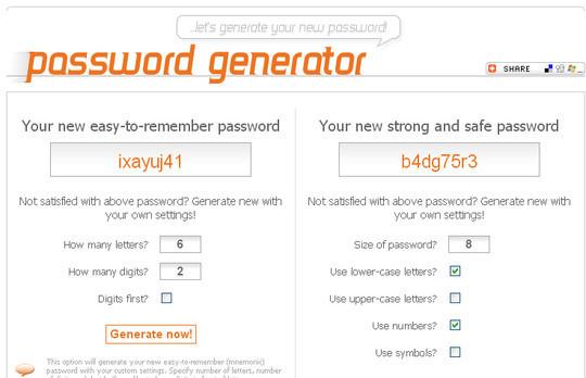 20 Useful Online Tools To Generate Random Passwords 12