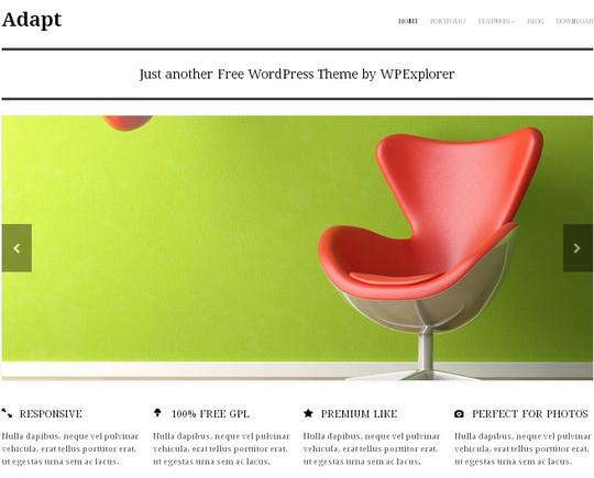 15 Free Minimal And Responsive WordPress Themes 12