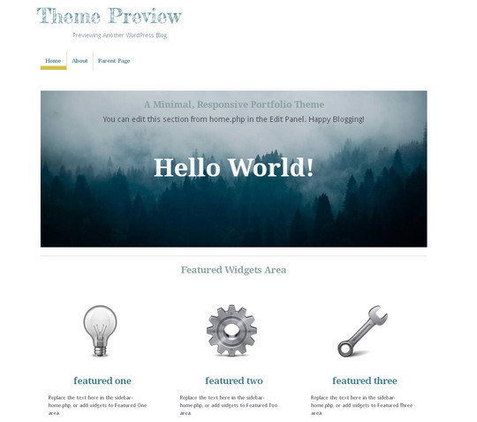 15 Free Minimal And Responsive WordPress Themes 7