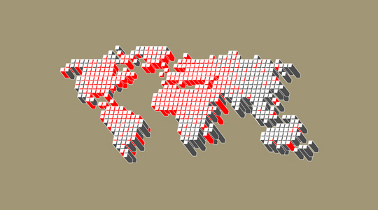 21 Creative World Maps in Photoshop, Eps & Ai Formats 17