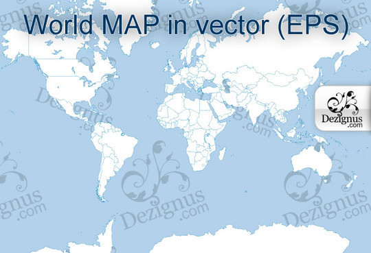 21 Creative World Maps in Photoshop, Eps & Ai Formats 18