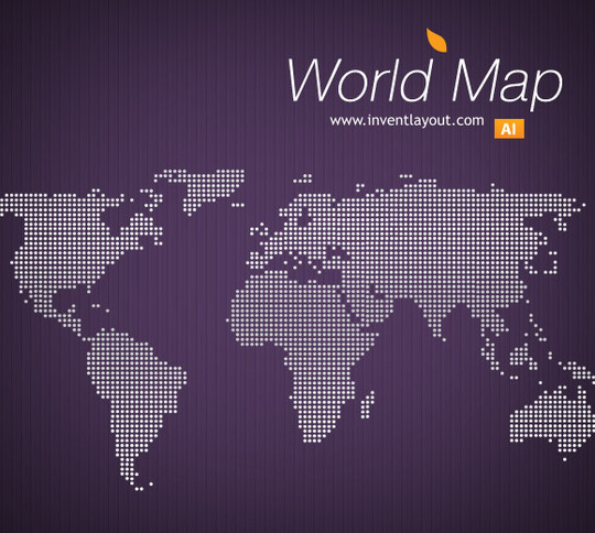 21 Creative World Maps in Photoshop, Eps & Ai Formats 20