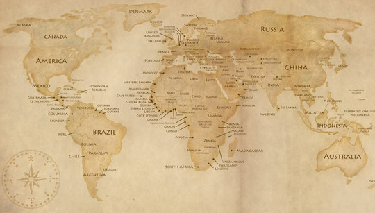 21 Creative World Maps in Photoshop, Eps & Ai Formats 7