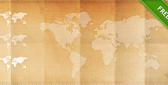 21 Creative World Maps in Photoshop, Eps & Ai Formats 9