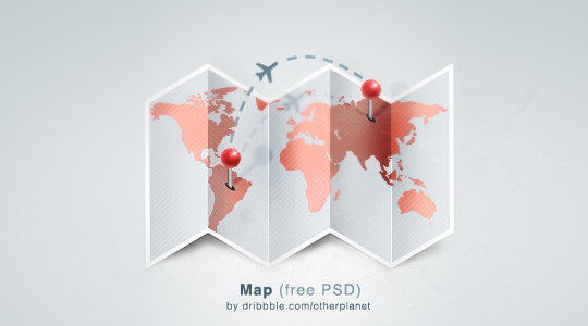21 Creative World Maps in Photoshop, Eps & Ai Formats 3