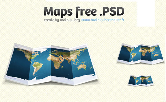 21 Creative World Maps in Photoshop, Eps & Ai Formats 5
