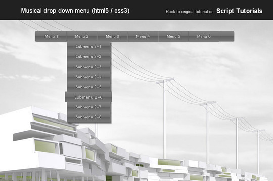 48 Free Dropdown Menu In HTML5 And CSS3 10