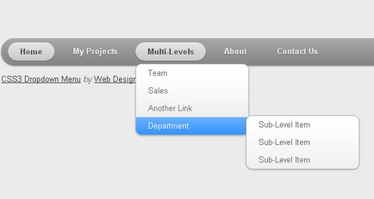 48 Free Dropdown Menu In HTML5 And CSS3 19