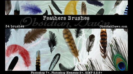 24 Free Photoshop Feather Brushes For Download 2