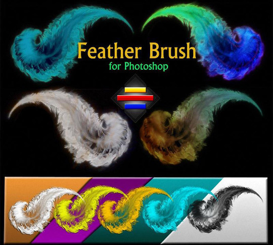 24 Free Photoshop Feather Brushes For Download 4