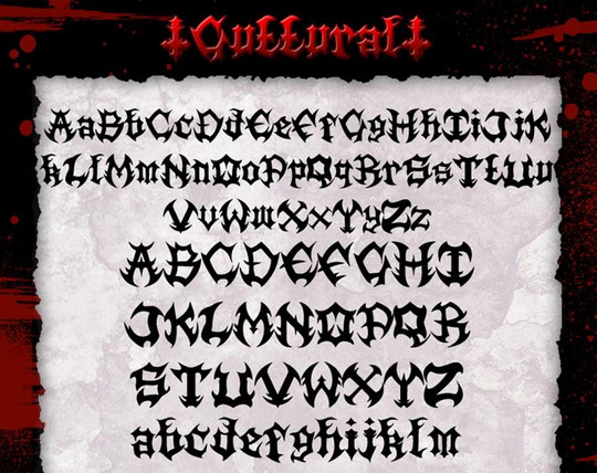 22 Free Gothic Fonts For Designers 22