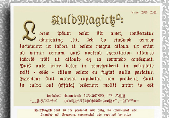 22 Free Gothic Fonts For Designers 11