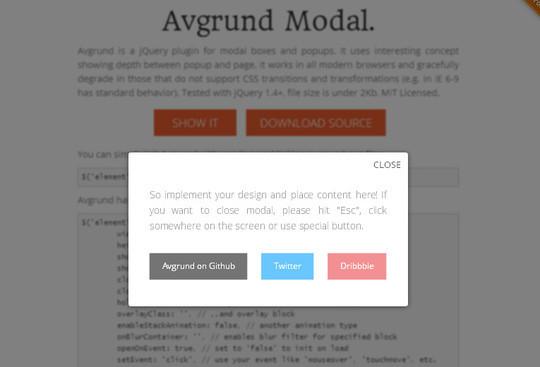 13 Very Useful jQuery Modal Plugins 1