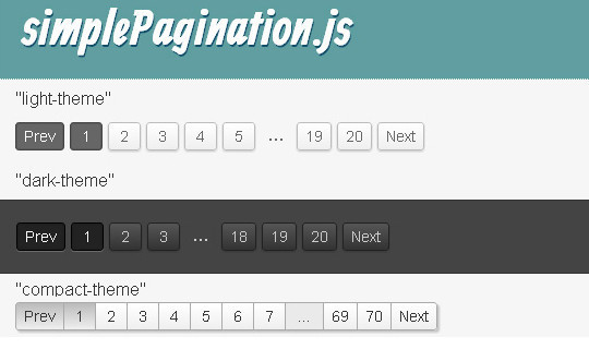 16 Beautiful jQuery Pagination Plugins 6