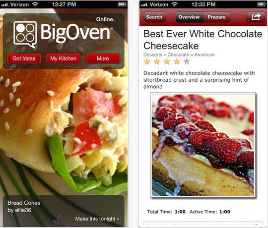 22 Free Food And Recipe iPhone Apps 2
