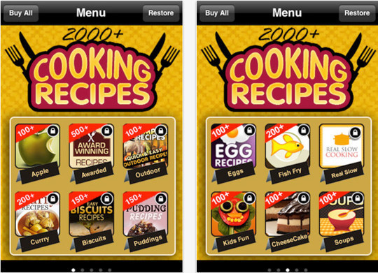22 Free Food And Recipe iPhone Apps 12