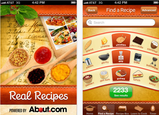 22 Free Food And Recipe iPhone Apps 3