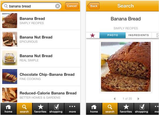22 Free Food And Recipe iPhone Apps 22