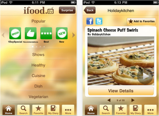 22 Free Food And Recipe iPhone Apps 23