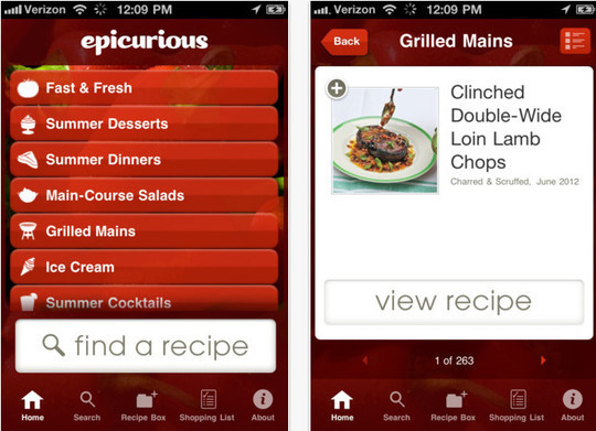 22 Free Food And Recipe iPhone Apps 4