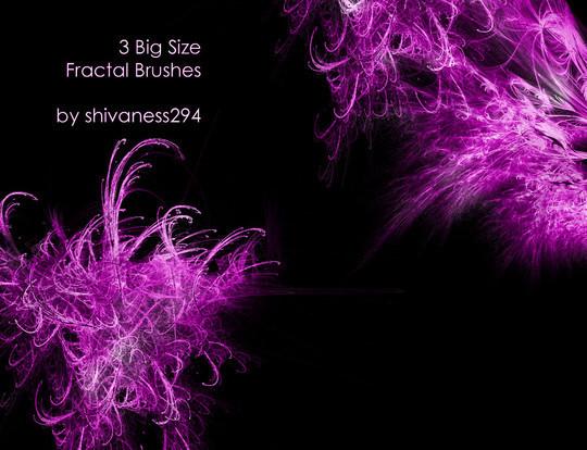 45+ Free Vibrant Fractal Photoshop Brush Packs 26
