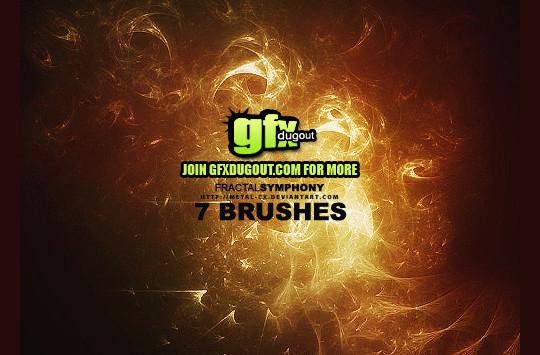 45+ Free Vibrant Fractal Photoshop Brush Packs 10