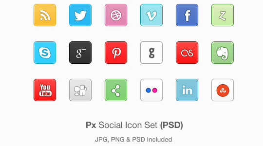 45 Fresh Collection Of Free Icon Sets Available In PSD Format 38