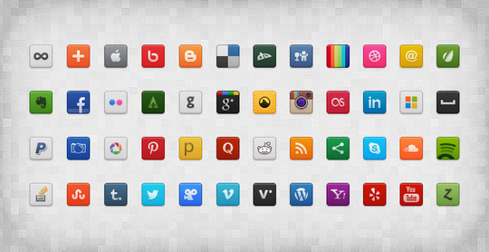 45 Fresh Collection Of Free Icon Sets Available In PSD Format 29