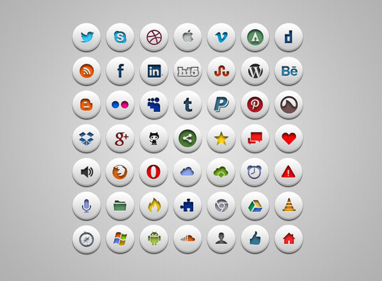 45 Fresh Collection Of Free Icon Sets Available In PSD Format 34