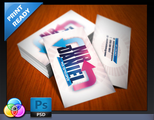 45+ Free PSD Business Card Templates 16