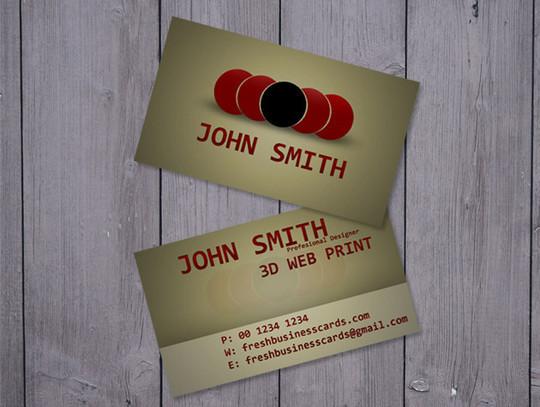 45+ Free PSD Business Card Templates 8