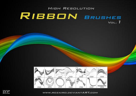 45 Awesome Swirl And Ribbon Photoshop Brushes 2